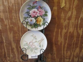 Vintage plates with plate hanger