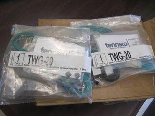 lot of 2 TENNSCO TWG 20 Grounding Kit 6 W x 8 D x 3 H