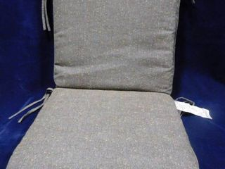 Project 62 gray polyester DuraSeason seat cushion 20in W X 43in l 3in D