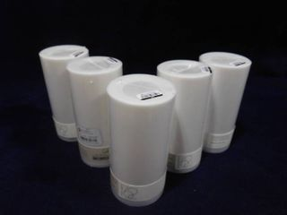 set of 5 Project 62 unscented lED candles 6in H X 3in in dia