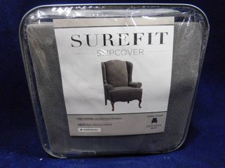 Surefit wing chair gray form fit slipcover 42in H X 29in W
