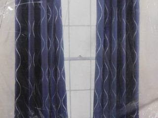Half Moon Swirl room darkening insulated window curtains  2 panels  each  52in X 84in   pair  104in X 84in