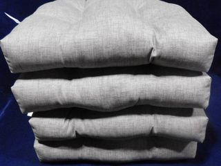 set of 4 Gray seat cushion 3in H X 18in W X 20in D