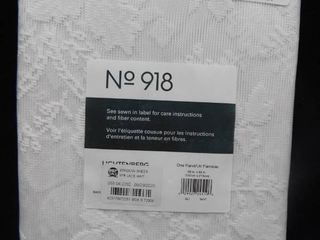 No 918 lace white window sheer 58in X 84in