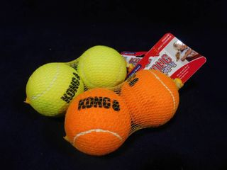 2 packages of Kong squeaker large 2 pack