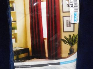 Cameron one grommet curtain panel navy blue 50in W X 84in l