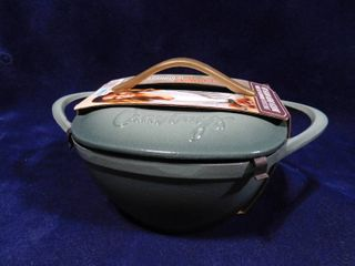 Cravings by Chrissy Teigen teal enameled cast iron dutch oven with lid 3QT