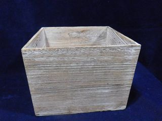 Project 62 paulownia wood storage crate 14in l X 13in W X 11in H