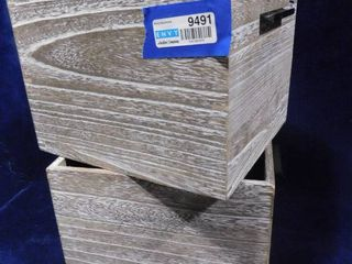 Project 62 paulownia wood storage crate 11in l X 10in W X 8in H