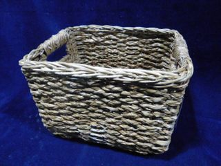 Threshold handcrafted storage basket 11 1 4in l X 10in W X 8in H