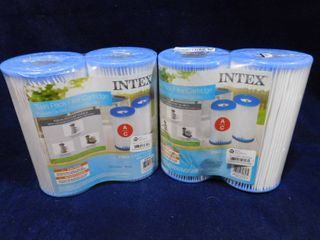 2 sets of Intex twin pack filter cartridges