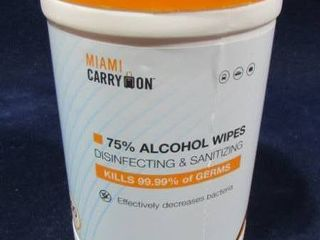 Miami carry on 75  Alcohol disinfecting wipes 100 count