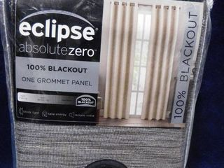 Eclipse absolute zero 100  blackout grommet curtain panel 50in 95in  Warm Champagne