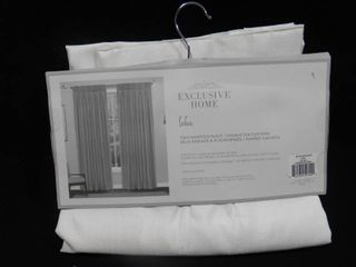 Exclusive home loha solid white two inverted pleat hidden tab curtains 84in l