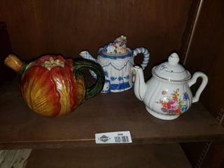 lot of 3 Decorative Teapots