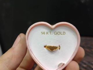 Sweet Somethings 14kt  Gold Ring in Heart Shaped Box and Bag