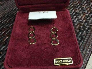 leon Hall 14kt Gold Dangle Earrings