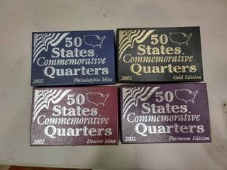 lot of 4 Boxes of 2002 Commemorative State Quarters