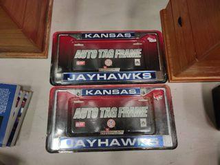 lot of 3 KU Auto Tag Frames