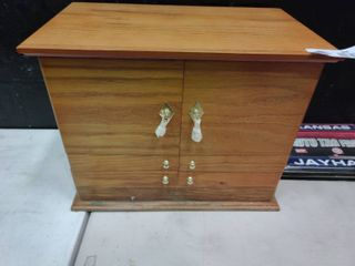 Wooden Jewelry Box   Contents NOT Include