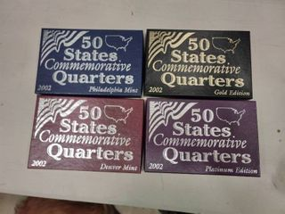 lot of 4 Boxes of 1999 Commemorative State Quarters