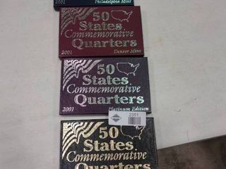 lot of 4 Boxes of 2001 Commemorative State Quarters