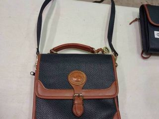 Black and Tan Dooney and Bourke Cross Body Purse