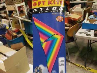 Delta 6ft Nylon Kite in Packaging