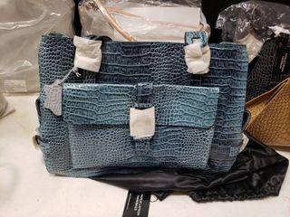 Charlie lapson Blue Genuine leather Handbag