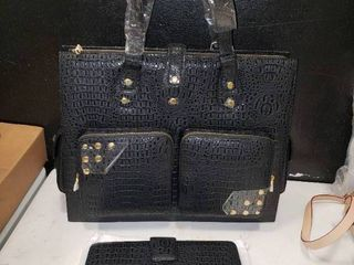 Very large Black The Find Handbag with Matching Notebook
