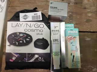 lot of 4 Pieces of Makeup with lay n Go Cosmo Plus Bag