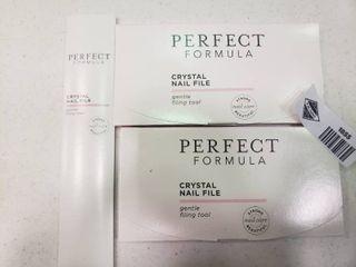 lot of Perfect Formula Crystal Nail Files