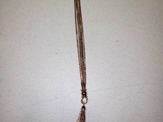 Joan Rivers Rose Gold Polished Tassel Necklace with 3  Extender