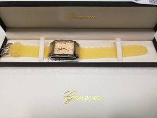 Genevex Yellow Quartz Watch