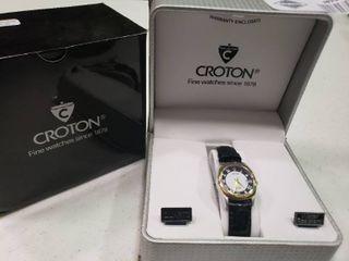 Women s Black Croton Watch