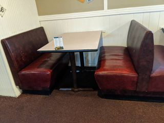 Booth Seating  Five Double Booth Seats  2 Single Booth Seats Includes Tables