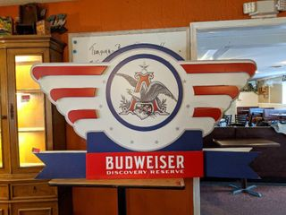 Double Sided Budweiser Sign