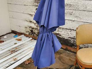 Blue Umbrella With Base
