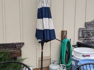 1  Outdoor Umbrella With Stand