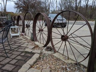 Wheel Fencing  In Concrete  Welded Together  Buyer Responsible For Removal
