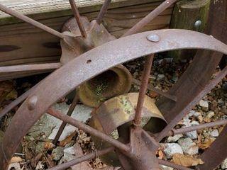 4  Wagon Wheels In Concrete