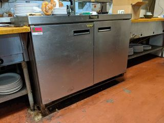Delfield Refrigerator  Not On Casters  Contents Not Included  Buyer Responsible For Removal
