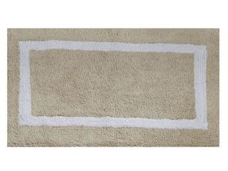 Better Trends Hotel Collection in Race Track Pattern 100  Cotton Super Absorbent Reversible Double Sided Bath Mat Rug