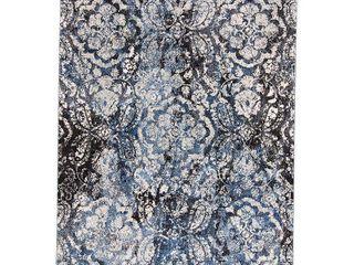 Grand Bazaar Tullamore Blue Ivory Floral Ornamental Area Rug  Retail 432 99