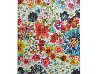 Mohawk Home Prismatic Floral Blossoms Area Rug  5  x 8  Retail 119 99