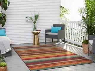 Mohawk Printed Outdoor Multicolor Area Rug  Retail 84 49
