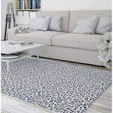 lEOPARD NAVY Area Rug by Marina Gutierrez  Retail 166 49