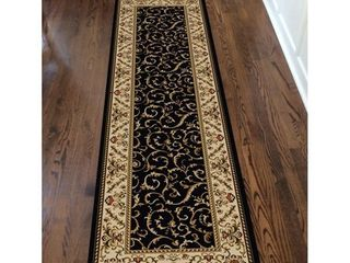 Admire Home living Amalfi Transitional Scroll Pattern Area Rug
