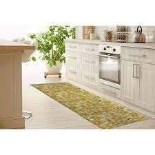 WEXlER GEO MUSTARD Kitchen Mat by Kavka Designs  Retail 138 99