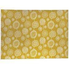 DOODlE FlORAl YEllOW Kitchen Mat by Kavka Designs  Retail 121 49